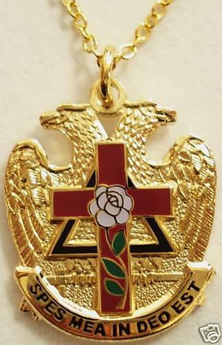 Scottish Rite Rose Croix 32nd Degree Masonic Pendant