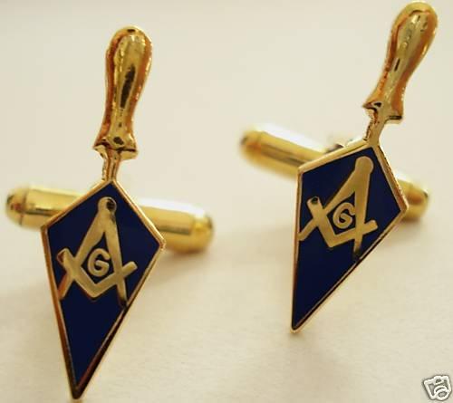 Trowel Square Compass Masonic Tool Cuff Links Cufflinks
