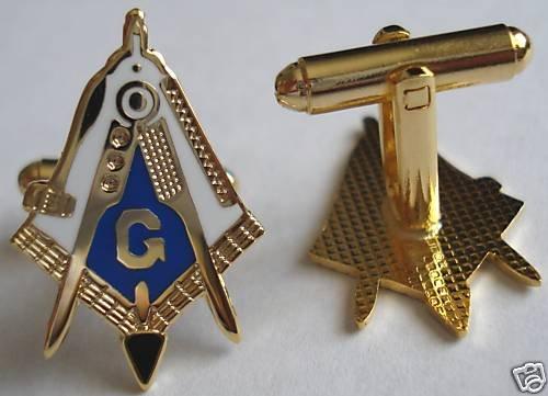 Master Masonic Working Tools Trowel Plumb CUFFLINKS