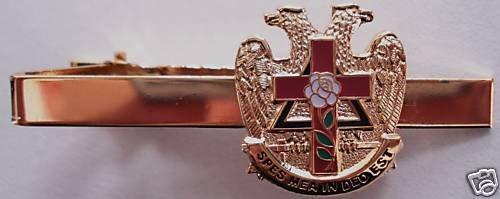Scottish Rite Rose Croix 32nd Degree Masonic Tie Bar