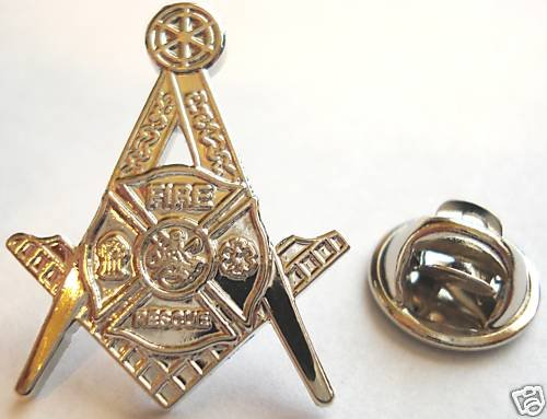 Fire Fighter Fireman fdny lafd Masonic Freemason PIN