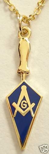Trowel Square Compass Masonic Tool Pendant Necklace