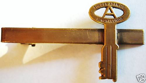 FOLGER ADAM Replica KEY Prison Corrections Jail TIE BAR