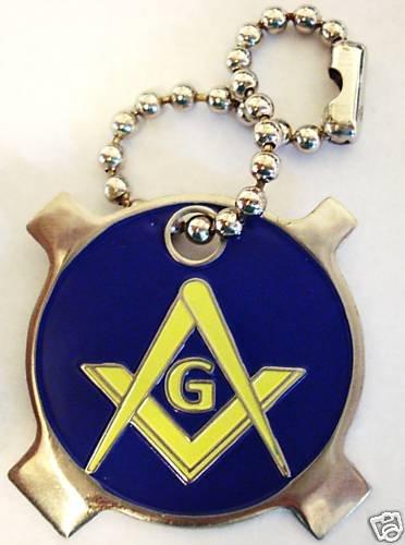 Masonic GeoCoin Screwdriver Geocache Keychain
