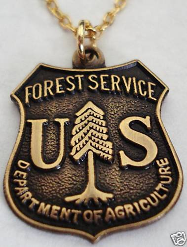 US Forest Service Ranger USDA Parks Necklace Pendant