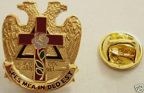 Scottish Rite Rose Croix 32nd Degree Masonic Eagle Pin