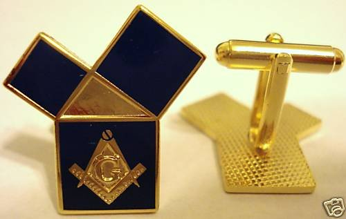EUCLIDS Problem Pythagorean Theorem Masonic CUFFLINKS