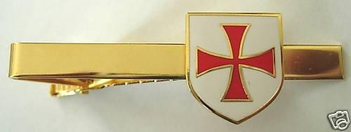 TEMPLAR KNIGHTS Cross Shield Crusader TIE BAR CLIP