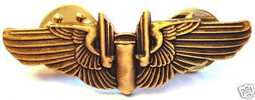 Aviator USAF Pilot Wings Aerial Bomber Gunner Lapel Pin
