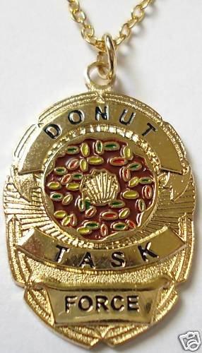 DONUT TASK FORCE Police SWAT Sheriff CIA Badge PENDANT