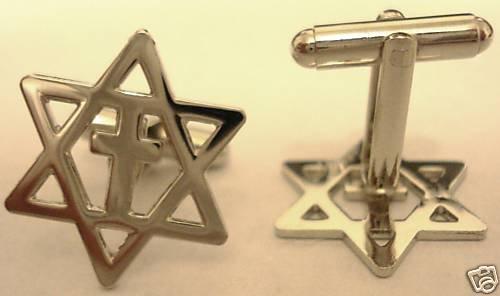 MESSIANIC CROSS Christians for Israel CUFFLINKS SET