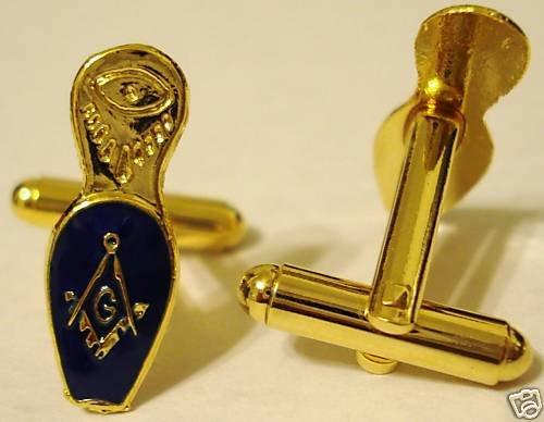 MASONIC SLIPPER Freemason Masonry Widow CUFFLINK SET
