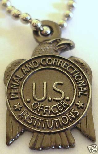 PRISON GUARD State Jail Corrections Mini Badge Pendant