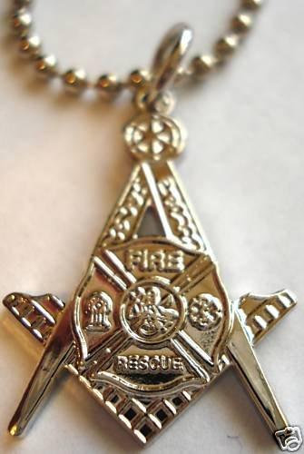 Fire Fighter Fireman fdny lafd cfd Masonic PENDANT