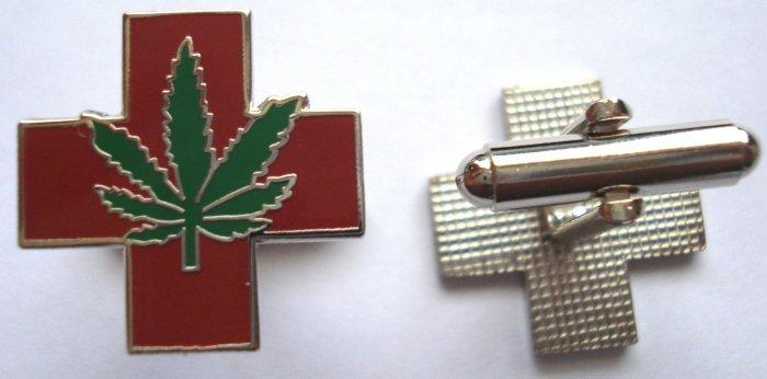 Medical Marijuana Pot Hemp Cannabis Cufflink Cuff Links