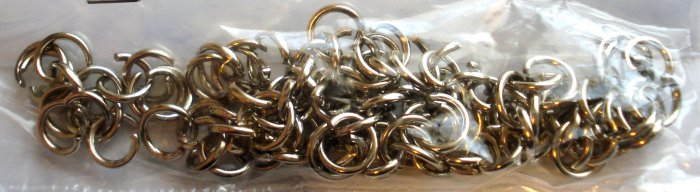 50 Nickel Plated BRASS Jump RINGS for Keychains Pendant