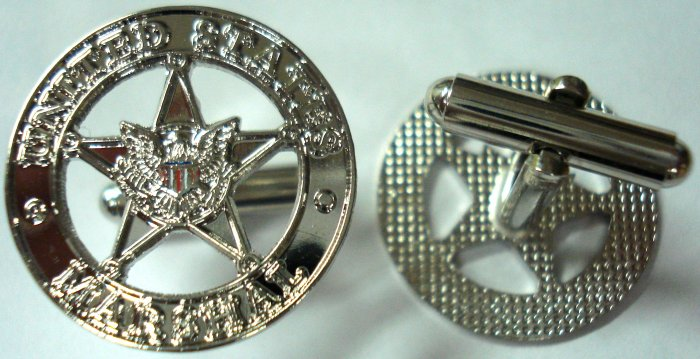 US MARSHALS Star Police Mini Badge Replica CUFFLINK SET