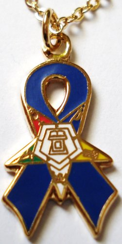 Order of the Eastern Star OES Purple Ribbon Pendant