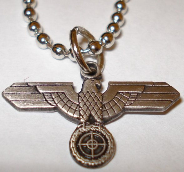 German WW2 Sniper Scope Eagle Army Pendant Necklace