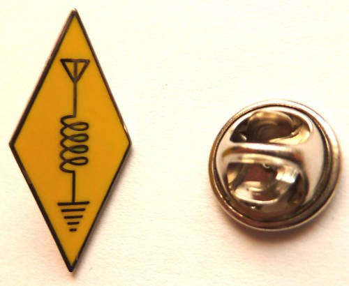 Ham Radio Amateur Antenna Logo Lapel Hat Lapel Pin