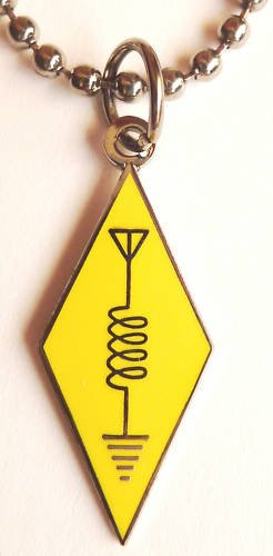 Ham Radio CB Amateur Antenna Logo Pendant Necklace