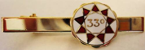33rd Degree Masonic Lodge Scottish Rite Tie Bar Clip