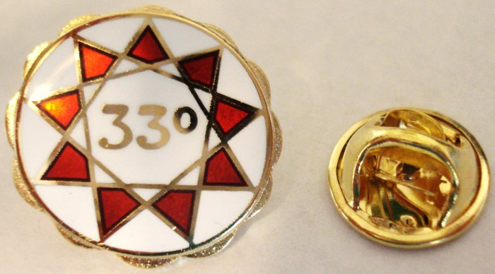 33rd Degree Masonic Scottish Rite Lapel Pin Tie Tack