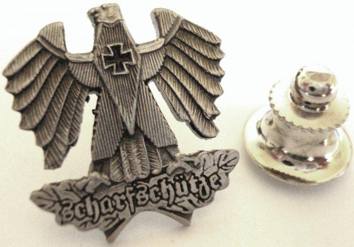 German Sharpshooter Replica Scharfshutze Sniper Eagle Lapel Pin