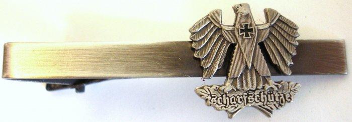 German Sharpshooter Replica Scharfshutze Sniper Eagle Tie Bar Clip