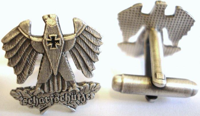 German Sharpshooter Replica Scharfshutze Sniper Eagle Cufflink Set