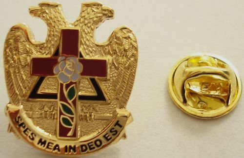 Scottish Rite Knight of the Rose Croix Masonic PIN