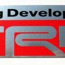 """Toyota TRD 5.25"""" x 1.5"""" Aluminum Emblem"""
