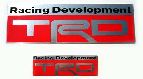 "Toyota TRD 5.25"" x 1.5"" & 2.5"" x 0.75"" Aluminum Emblem"