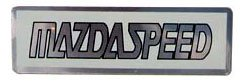 "Mazad Speed 2.5"" x 0.75"" Aluminum Emblem"