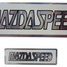 "Mazad Speed 5.25"" x 1.5"" & 2.5"" x 0.75"" Aluminum Emblem"