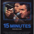 15 Minutes Single Sided Movie poster 27x40 Origina