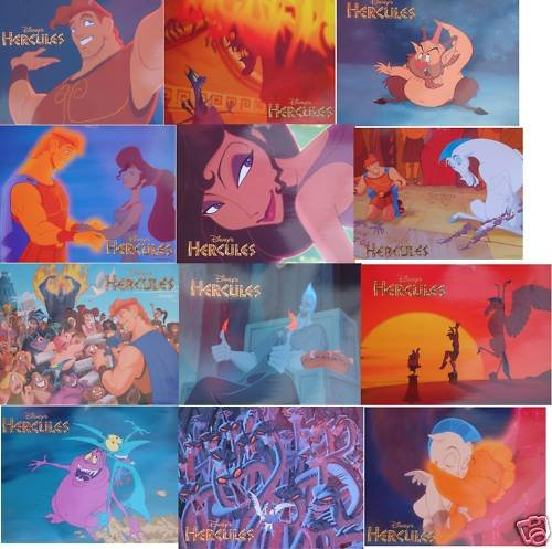 Hercules Lobby Cards 12 Cards per set RARE!! ORIGINAL