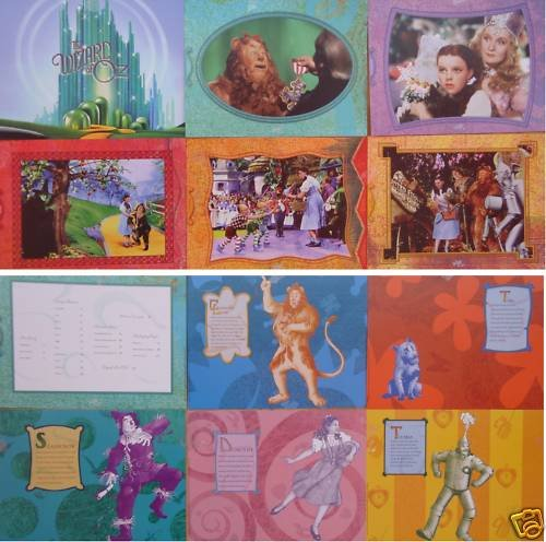 WIZARD OF OZ  6 Cards per set RARE!! ORIG DBL SIDED