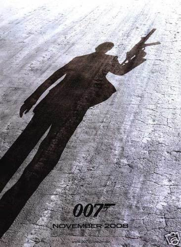 QUANTUM OF SOLACE ADV ORIG Movie Poster  27X40 DBLSIDED
