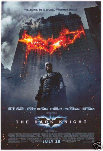 Dark Knight (Building )  Original Movie Poster Double Sided 27 X40