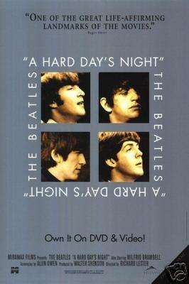 HARD DAYS NIGHT MOVIE Poster ORIG 27 X40