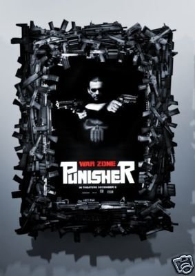 PUNISHER WAR ZONE ORIG Movie Poster 27X40 DBL SIDED