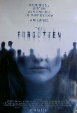 Forgotten Original Movie Poster Double Sided 27x40