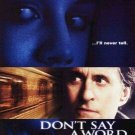 Don't Say A Word Original Movie Poster Double Sided 27 X40