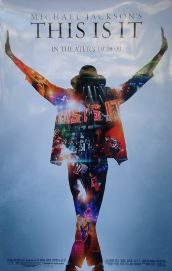 This is It Michael Jackson Final Double Sided Original Movie Poster 27x40