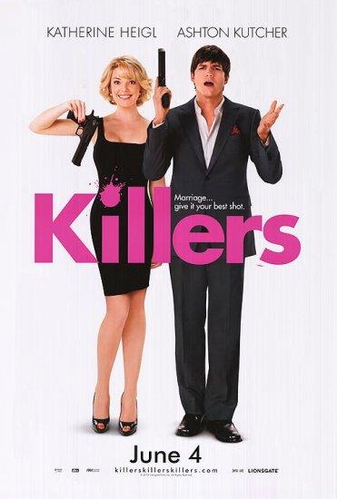 Killers Advance Ver c(katherine Heigl/Ashton Kutcher) Double Sided Original Movie Poster 27x40