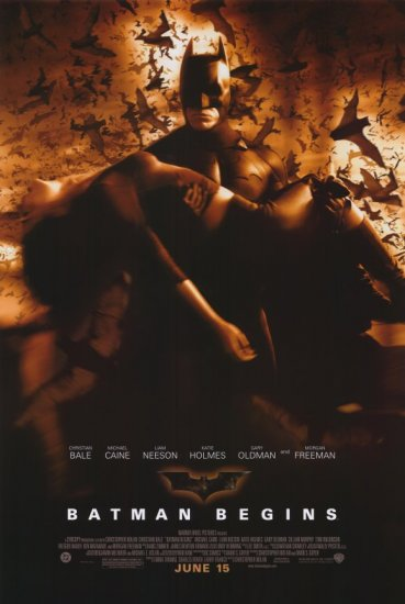Batman Begins Final Original Movie Poster Double Sided 27x40