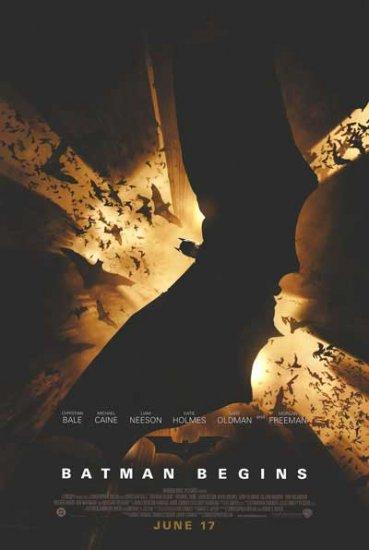 Batman Begins Version B Original Movie Poster Double Sided 27x40
