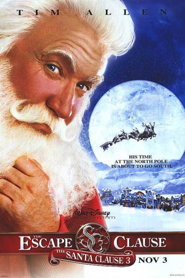 Santa Clause 3 : The Scape Advance Original Double Sided Movie Poster 27x40