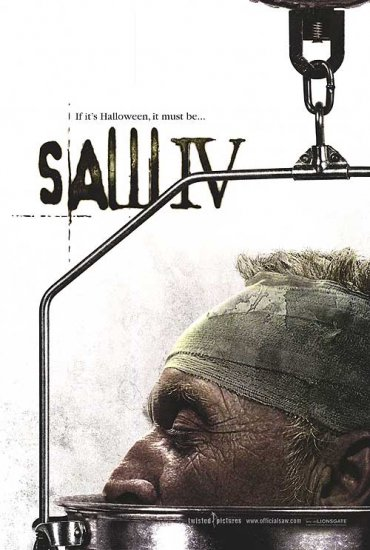 Saw IV Original Double Sided Movie Poster 27x40